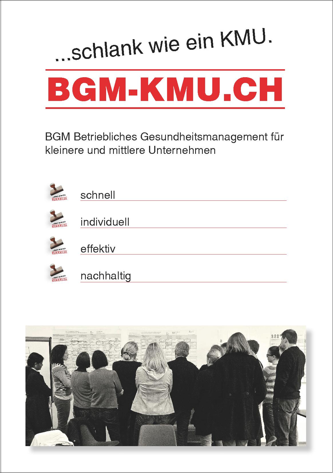 Titelild Flyer BGM-KMU